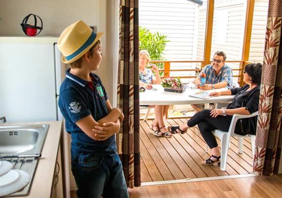 Mobil-home camping 5 étoiles Saint Cyprien